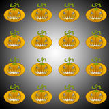 Pumpkins. On a grey background Stock Photos