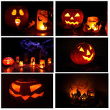 Pumpkins halloween collection Royalty Free Stock Photos