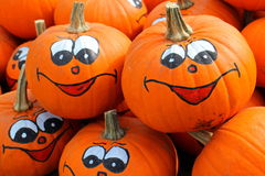 Pumpkins halloween collection Royalty Free Stock Photo