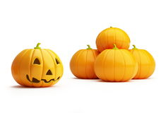 Pumpkins halloween. Halloween pumpkins  it is isolated on a white background Royalty Free Stock Image