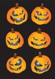 Pumpkins for Halloween Stock Images