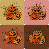 Pumpkins-Halloween Royalty Free Stock Images