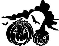 Pumpkins - Halloween royalty free stock images