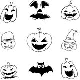 Pumpkins Halloween in doodle Stock Photography