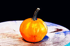 Pumpkins for Halloween with funny friends who play with ghosts -. The famous halloween pumpkins accompany you to make jokes and ask for treats Stock Photography