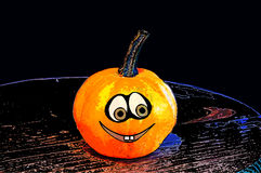 Pumpkins for Halloween with funny friends who play with ghosts -. The famous halloween pumpkins get some nice friends who accompany you to make jokes and ask for Royalty Free Stock Photos