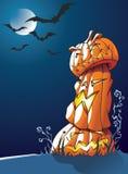 Pumpkins: Halloween greeting card Royalty Free Stock Photography