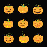 Pumpkins for Halloween Stock Images