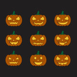 Pumpkins for Halloween set Royalty Free Stock Photography