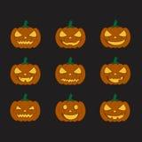 Pumpkins for Halloween set. Pumpkins for Halloween  set Royalty Free Stock Photography
