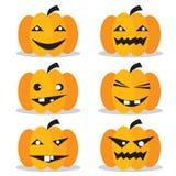 Pumpkins Halloween Set. Stock Photography