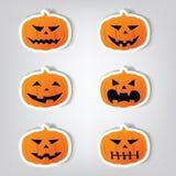 Pumpkins for Halloween. Set of vector stickers. Pumpkins for Halloween vector illustration