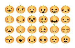 Pumpkins halloween set. Royalty Free Stock Photos