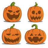 Pumpkins for Halloween. Vector. Funny pumpkins stock illustration