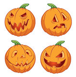Pumpkins for Halloween Stock Photography