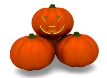 Pumpkins halloween. On white background Stock Photos