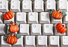 Pumpkins and happy halloween. Text vector illustration