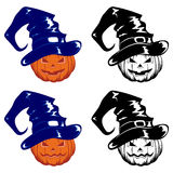 Pumpkins in hat Royalty Free Stock Photo