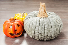 Pumpkins and helloween pumpkin Stock Photos
