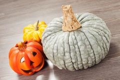 Pumpkins and helloween pumpkin Stock Photography
