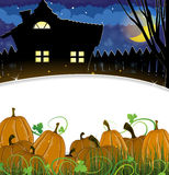 Pumpkins and house Stock Image