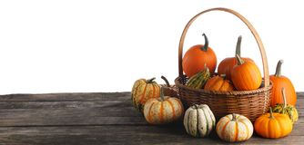 Free Pumpkins In Basket Royalty Free Stock Image - 128847046