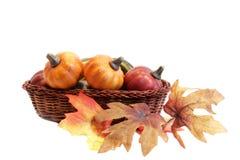 Free Pumpkins In Basket Royalty Free Stock Images - 3147999