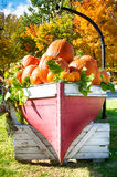 Pumpkins ina Boat Stock Photography
