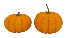 Pumpkins, isolated on white. 3d illustration Stock Images