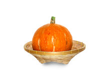 Pumpkins isolated on white background with clipping p Royalty Free Stock Photography