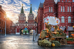 Pumpkins on Manezh Square Stock Photo