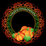 Pumpkins medallion Stock Image