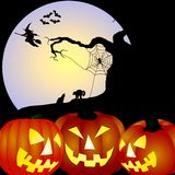 pumpkins at night Royalty Free Stock Images