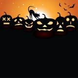 Pumpkins at night Stock Photo
