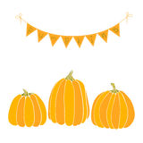 Pumpkins patch vector Stock Photography