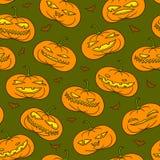 Pumpkins pattern Stock Photos