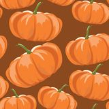 Pumpkins pattern Stock Images