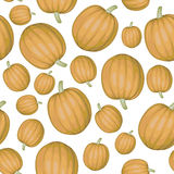Pumpkins pattern seamless Stock Image