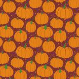 Pumpkins pattern with terrazzo background- purple version. Autumn seamless vector pattern with hand drawn pumpkins. Autumn Pumpkin - seamless vector pattern vector illustration