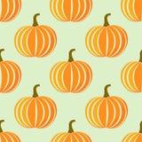 Pumpkins pattern vector Stock Image