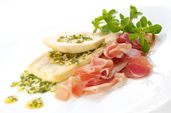 Pumpkins with prosciutto. And herbs Royalty Free Stock Photography