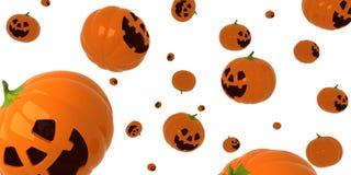 Pumpkins rain. Falling orange pumpkins. Halloween. Holiday Royalty Free Stock Photo
