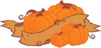 Pumpkins and ribbon Royalty Free Stock Photography