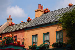 Pumpkins On Rooftops royalty free stock photos
