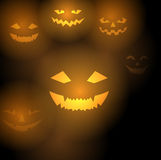 Pumpkins scary background Stock Photography