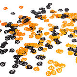 Pumpkins scattered, over white background Royalty Free Stock Photos