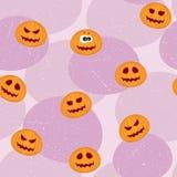 Pumpkins Seamless Pattern Stock Photo