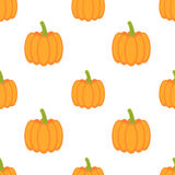 Pumpkins seamless pattern Stock Photo