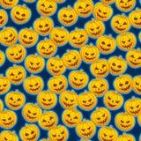 Pumpkins. Seamless pattern of orange pumpkins stock illustration