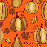 Pumpkins Seamless vector Pattern Background Royalty Free Stock Photo